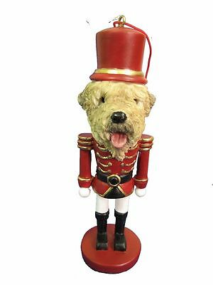 Soft Coated Wheaten Terrier Dog Toy Soldier Nutcracker Christmas Ornament