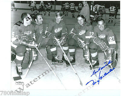 Frank Mahovlich 1968 Det Red Wings 8 X10 Signed (Rp)