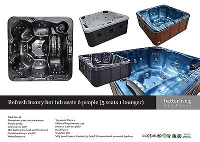 Brand New Refresh 6 Person Hot Tub ***only £3499****