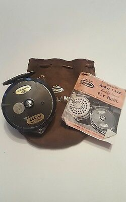 Vintage CORTLAND Ltd.444 FLY FISHING REEL Original Pouch and Instructions