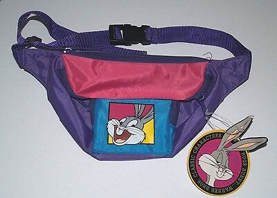 90's Official Looney Tunes Fanny Pack - 90's waist bag - Belt Bag - Bugs Bunny
