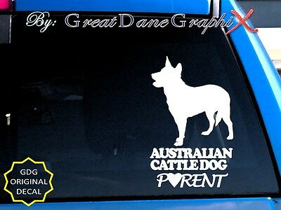 Australian Cattle Dog PARENT(S) -Vinyl Decal Sticker / Color Choice-HIGH QUALITY