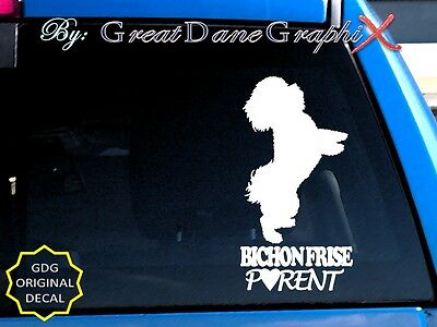 Bichon Frise PARENT(S)   Vinyl Decal Sticker / Color Choice   HIGH QUALITY