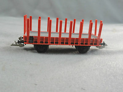 Zeuke TT HO Scale DR Flat Car Wagon with Stakes