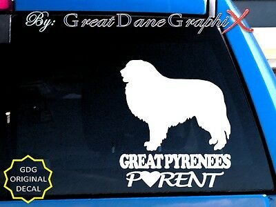 Great Pyrenees PARENT(S) - Vinyl Decal Sticker / Color Choice - HIGH QUALITY