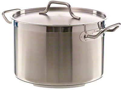 Update International (SPS-12) 12 Qt Induction Ready Stainless Steel Stock Pot w/