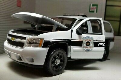 1:26 24 Scale 2008 Chevrolet Tahoe Police Patrol Cruiser USA Welly Model Car