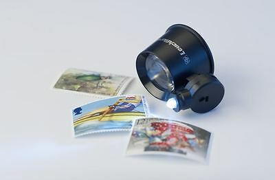 New Lighthouse Jewelers Magnifier Loupe With LED 10X Stamps Coins Watchmaker USA