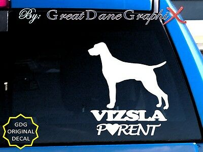 Vizsla PARENT(S) - Vinyl Decal Sticker / Color Choice - HIGH QUALITY