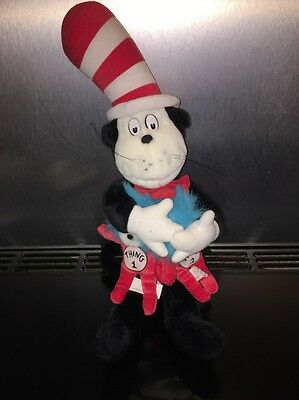 "Dr Seuss Cat In The Hat & Thing 1 & 2 Plush Soft Teddy 22"" Universal Studios"