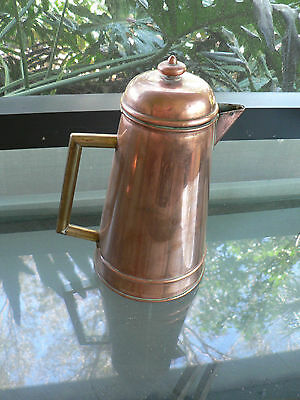 antique copper French coffee pot origin France 19th century a real bargain