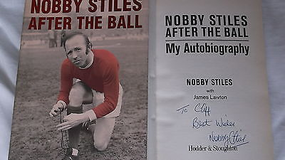 Nobby Stiles Signed Book