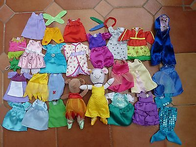 ANGELINA & ALICE BALLERINA MICE DOLLS plus Bundle of 24 Outfits - hours of fun