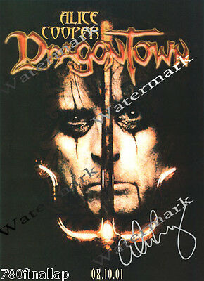 ALICE COOPER, DRAGONTOWN , Signed Promo Poster