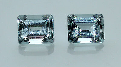 9 cts Pair of Lustrous Brazilian Espirito Santo Aquamarines (9 x 11 mm)