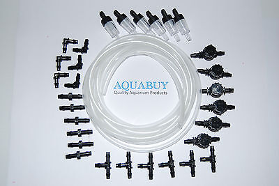 Airline Kit 4mm for Aquariums  with airline and 6 sets of fittings