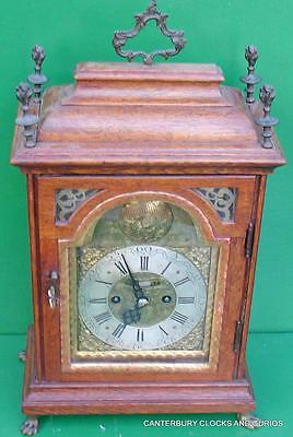 Victorian Antique Verge Escapement 8 Day Arch Dial Bracket Table Clock Serviced