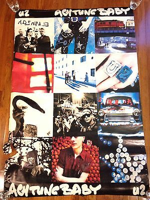 Rare Extemely Large U2 Achtung Baby Poster 40 inches wide by 59 inches Long