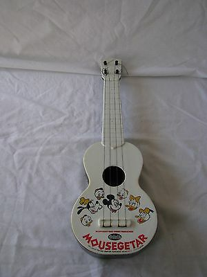 """Vintage Reliable Toy """"MOUSEGETAR"""" Walt Disney Mickey Mouse Guitar Plastic 1970s"""