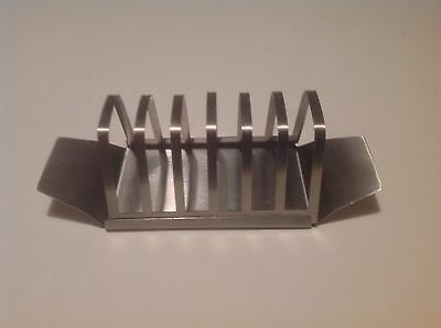Vintage Stainless Steel 6 Slice Toast Rack Vgc