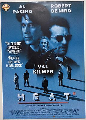 Heat / Original Vintage Video Film Poster / Al Pacino Robert De Niro 5