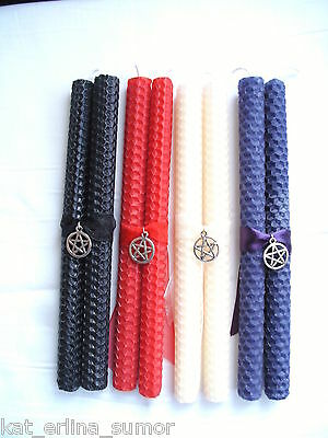 GOTHIC,WITCH PURPLE SPELL CANDLES, PENTAGRAM....Wicca,Pagan,Witchcraft,Spiritual