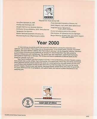 USA FDC USPS First Day Souvenir Pages: 2000: YEAR 2000 - Y2K