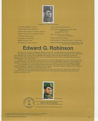 USA FDC USPS First Day Souvenir Pages: 2000: Edward G. Robinson HOLLYWOOD ACTOR