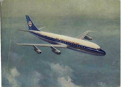 Postcard Klm Dc 8 Mint 1958 Unused