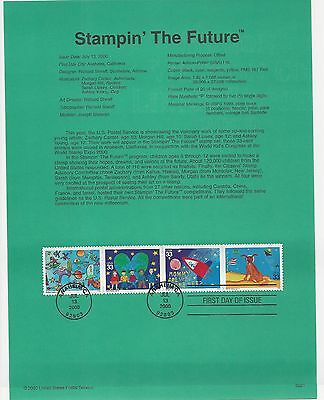 USA FDC USPS First Day Souvenir Pages: 2000: STAMPIN' THE FUTURE: CHILDREN ART