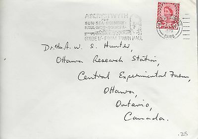 UK GB WALES COVER ABERYSTOWN, 1970 REGIONAL ISSUE 4d RED TO CANADA