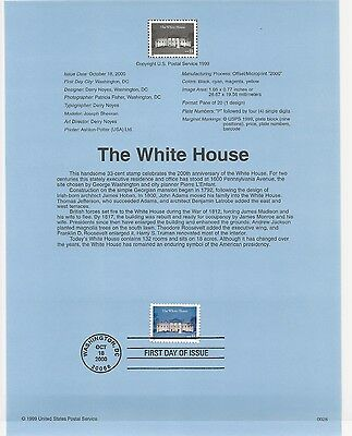 USA FDC USPS First Day Souvenir Pages: 2000:The White House