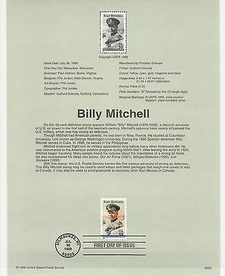 USA FDC USPS First Day Souvenir Pages: 1999: Billy Mitchell, US AIR FORCE