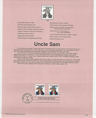 USA FDC USPS First Day Souvenir Pages: 1999: UNCLE SAM