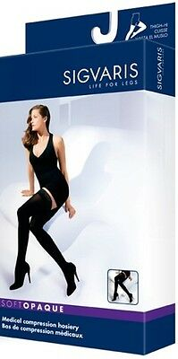 SIGVARIS 842N 843N Soft Opaque THIGH-HI Compression Hosiery Stockings