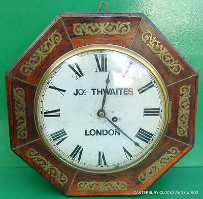 Joseph Thwaites London 8 Day Fusee 10 Inch Convex Dial Clock Serviced