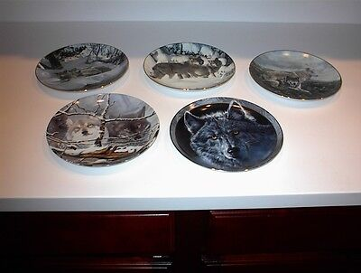 5 Bradford Wolf Plate Collection Masters Collection/EYE OF THE WILD/MYSTIC SPRIT