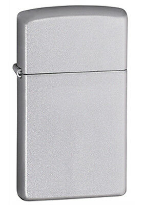 Zippo Satin Chrome Lighter - Slim 1605 Genuine