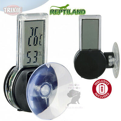 Digital Thermo/Hygrometer easy mount with suction pad humidity range 30% - 90 %