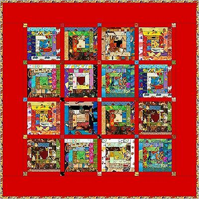 "HUMPTY DUMPTY - Red - 48"" - Quilt-Addicts Pre-cut Patchwork Quilt Kit Lap size"