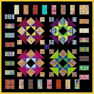 "QUIRKY WORK - 50.5"" - Quilt-Addicts Pre-cut Patchwork Quilt Kit Lap size"