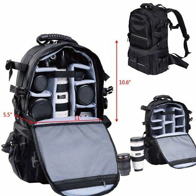 Multifunctional Deluxe Camera Backpack Bag Case Sony Canon Nikon DSLR SLR BLK HM