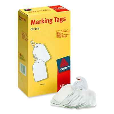 Avery Office Supplies White Tags White Cardstock White Label String Tag 1000Pack