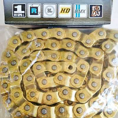 "YBN MK918 BMX 1/2 Half Link Chain 1/8"" x 102-links Single Speed Fixie GOLD 1902"