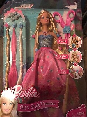 Barbie Cut 'N Style Princess Doll With Hair Accessories New SEALED!