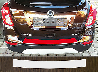 paint protective film boot sill protection transparent for Vauxhall Mokka X 2016