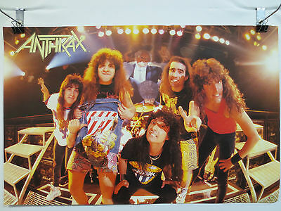 Anthrax Poster By Funky Enterprises Rock & Roll Metal Spreading The Disease 1987