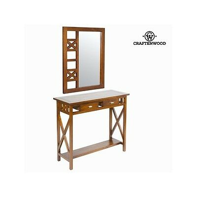 Meuble d'entrée rustique avec miroir - Collection Serious Line by Craften Wood