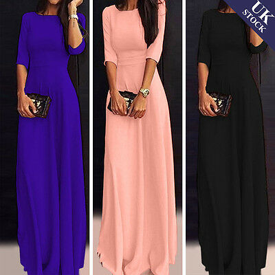 New Women Ladies Slim Party Cocktail Evening Ball Gown Long Maxi Dress Size 8-18
