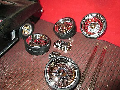 """1 SET of 1/18 wheel for custom dub 24"""" wheels and tires for diorama customize #3"""